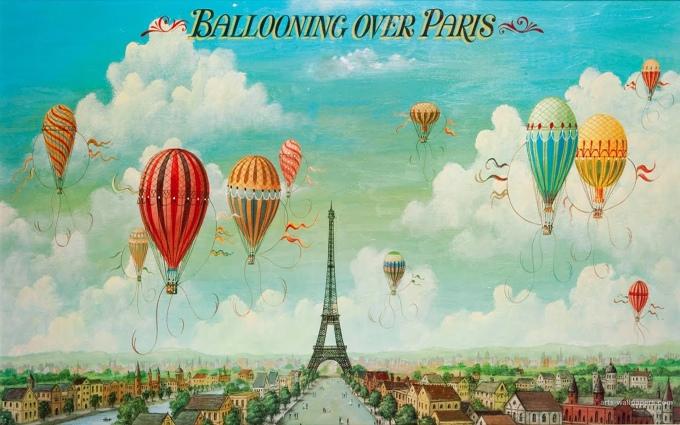 Balooning over paris